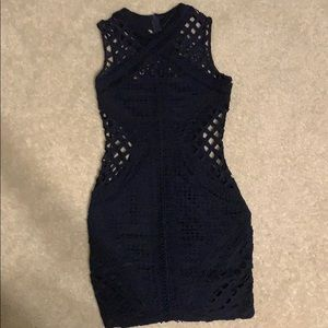 NWOT Missguided blue body con dress